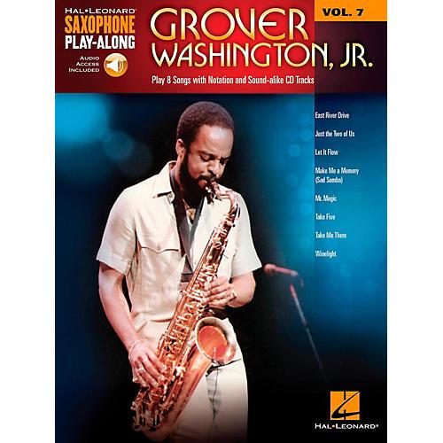 Hal Leonard Grover Washington Jr. - Saxophone Play-Along Vol. 7 (Book/Audio Online) thumbnail