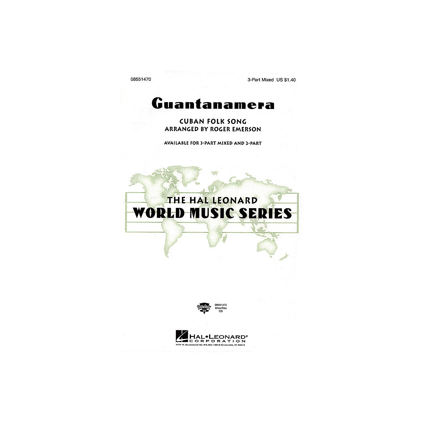 Hal Leonard Guantanamera ShowTrax CD Arranged by Roger Emerson thumbnail