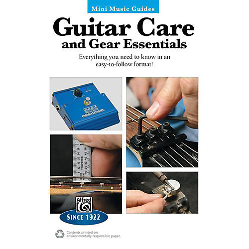 Alfred Guitar Care and Gear Essentials Mini Music Guides Book thumbnail