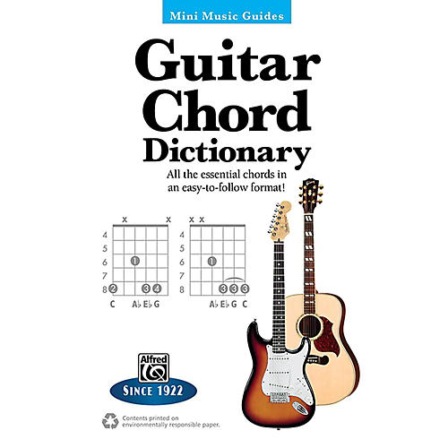 Alfred Guitar Chord Dictionary Mini Music Guides Book-thumbnail