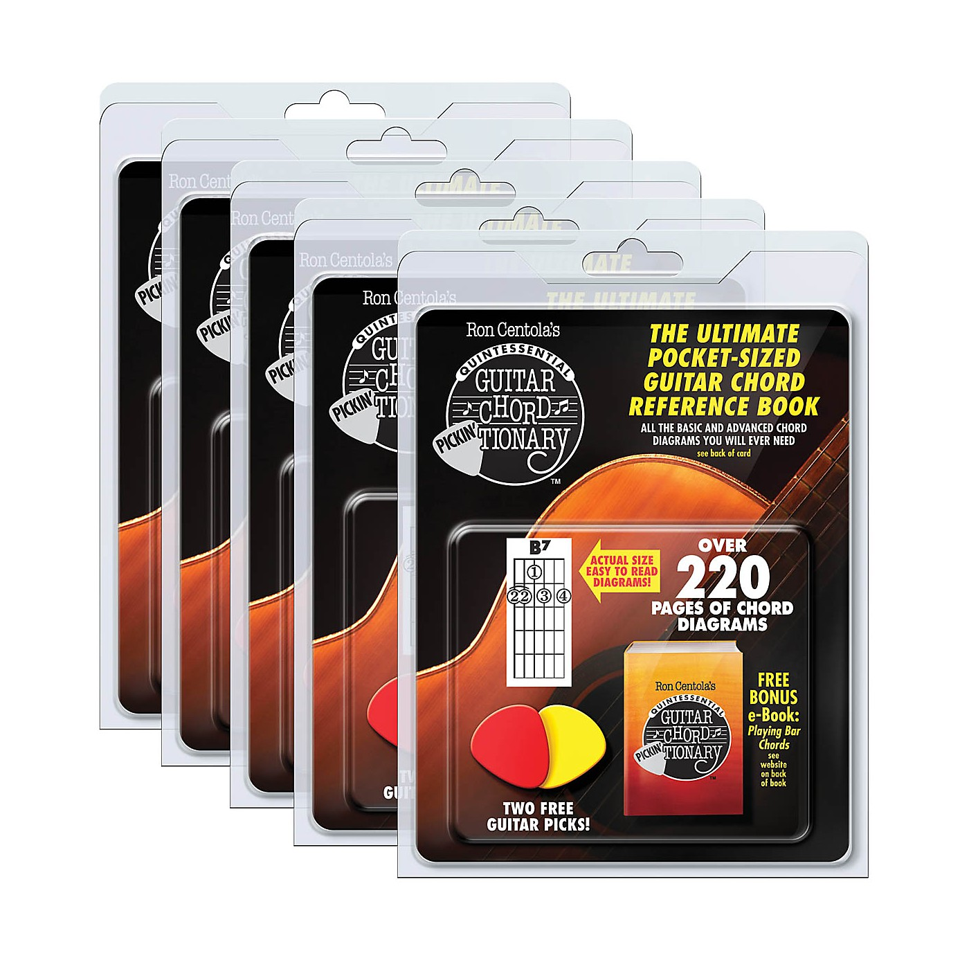 CSI Guitar Chord Pickin'Tionary 5-Pack (Clamshell with 2 Picks and Mini Chord Book) Book Series Softcover thumbnail