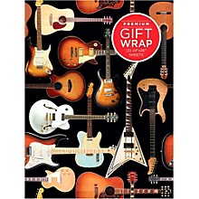 Hal Leonard Guitar Collage Wrapping Paper
