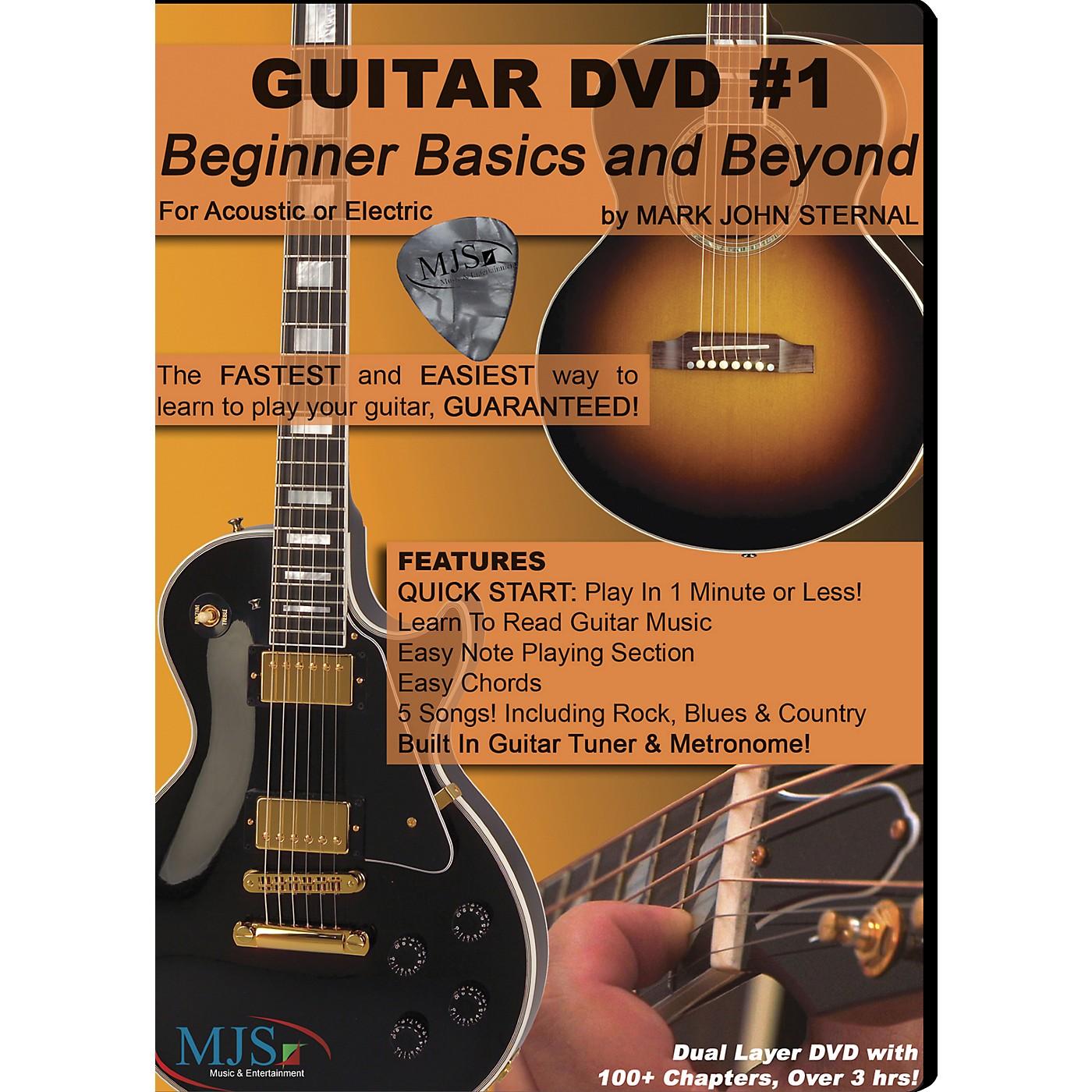MJS Music Publications Guitar DVD #1 Beginner Basics and Beyond thumbnail