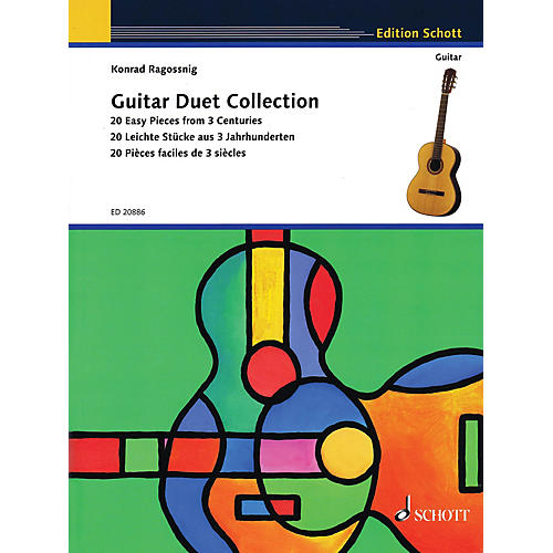 Schott Guitar Duet Collection (20 Easy Pieces from 3 Centuries) Guitar Series Softcover thumbnail