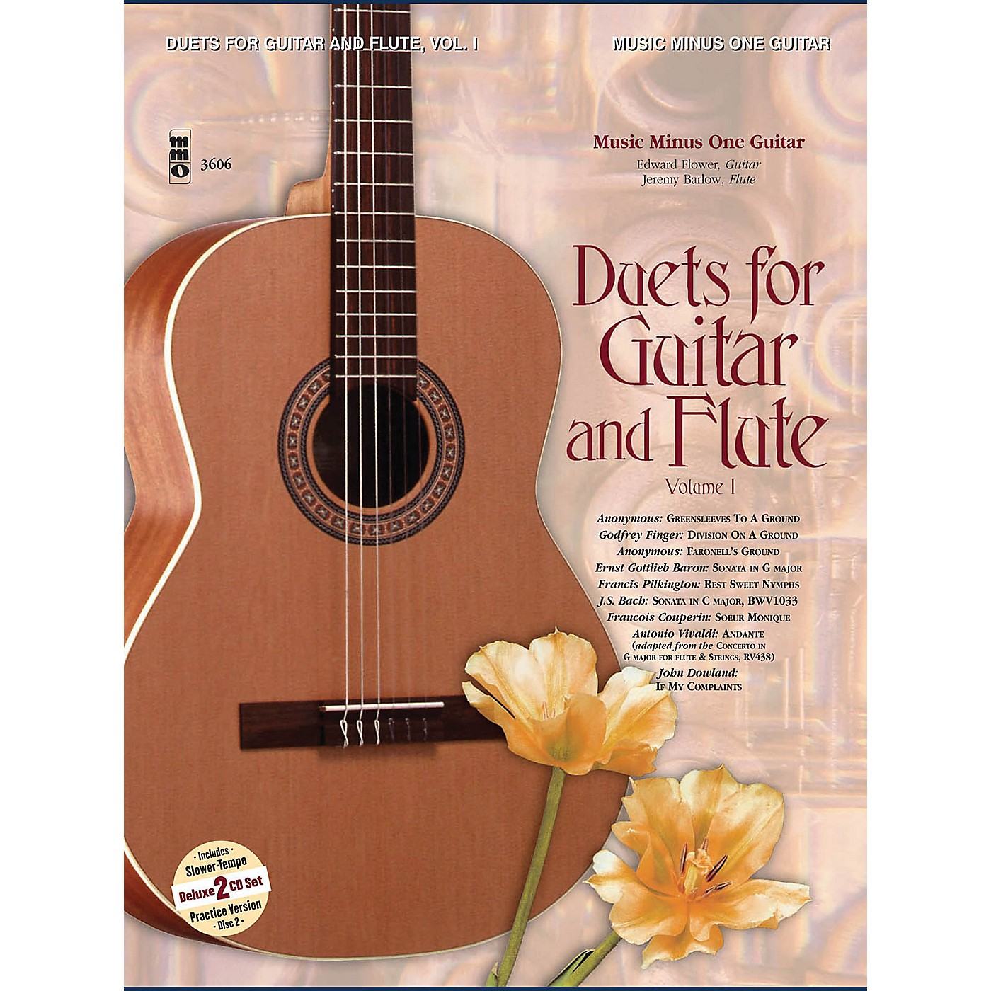 Music Minus One Guitar & Flute Duets - Vol. I (2-CD Set) Music Minus One Series Softcover with CD thumbnail