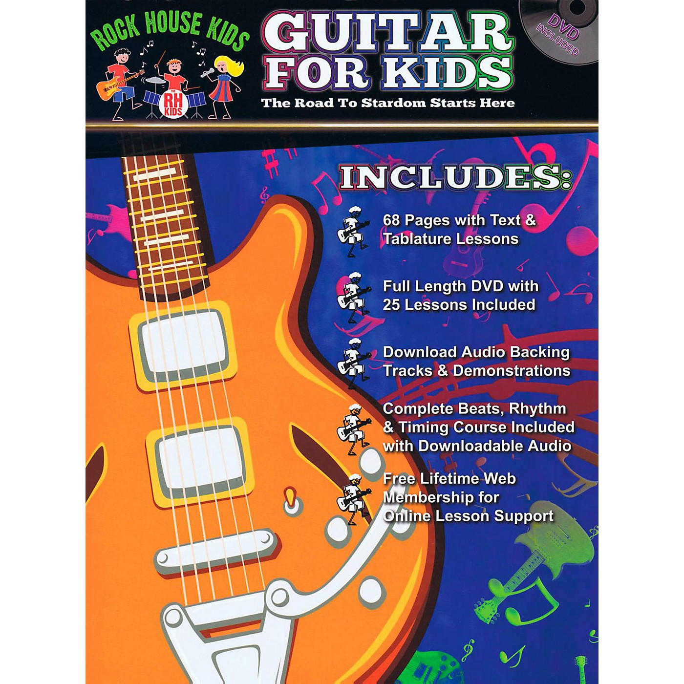 Rock House Guitar For Kids - The Road to Stardom Starts Here Book/DVD/Online Audio thumbnail