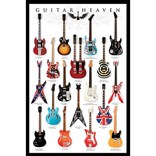 Ace Framing Guitar Heaven 24x36 Poster thumbnail