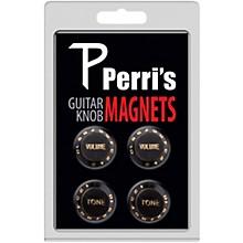 Perri's Guitar Knob Fridge Magnets - 4 Pack - Black