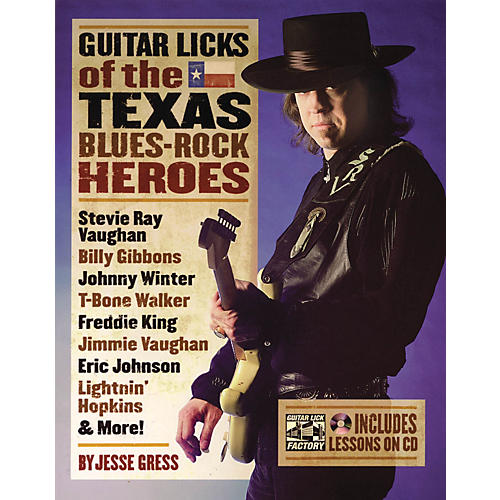Backbeat Books Guitar Licks Of The Texas Blues Rock Heroes Book/CD thumbnail
