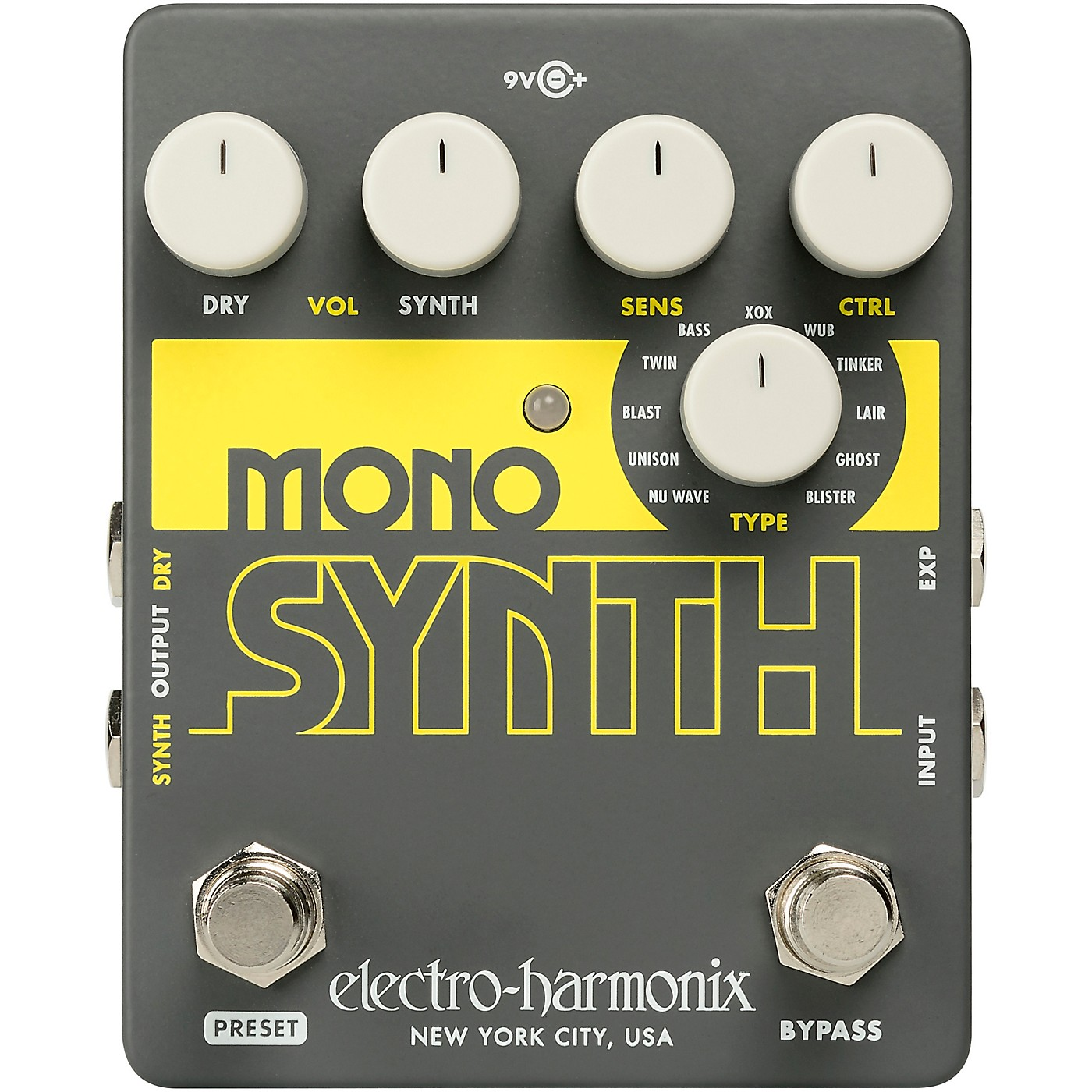 Electro-Harmonix Guitar Mono Synth Effects Pedal thumbnail