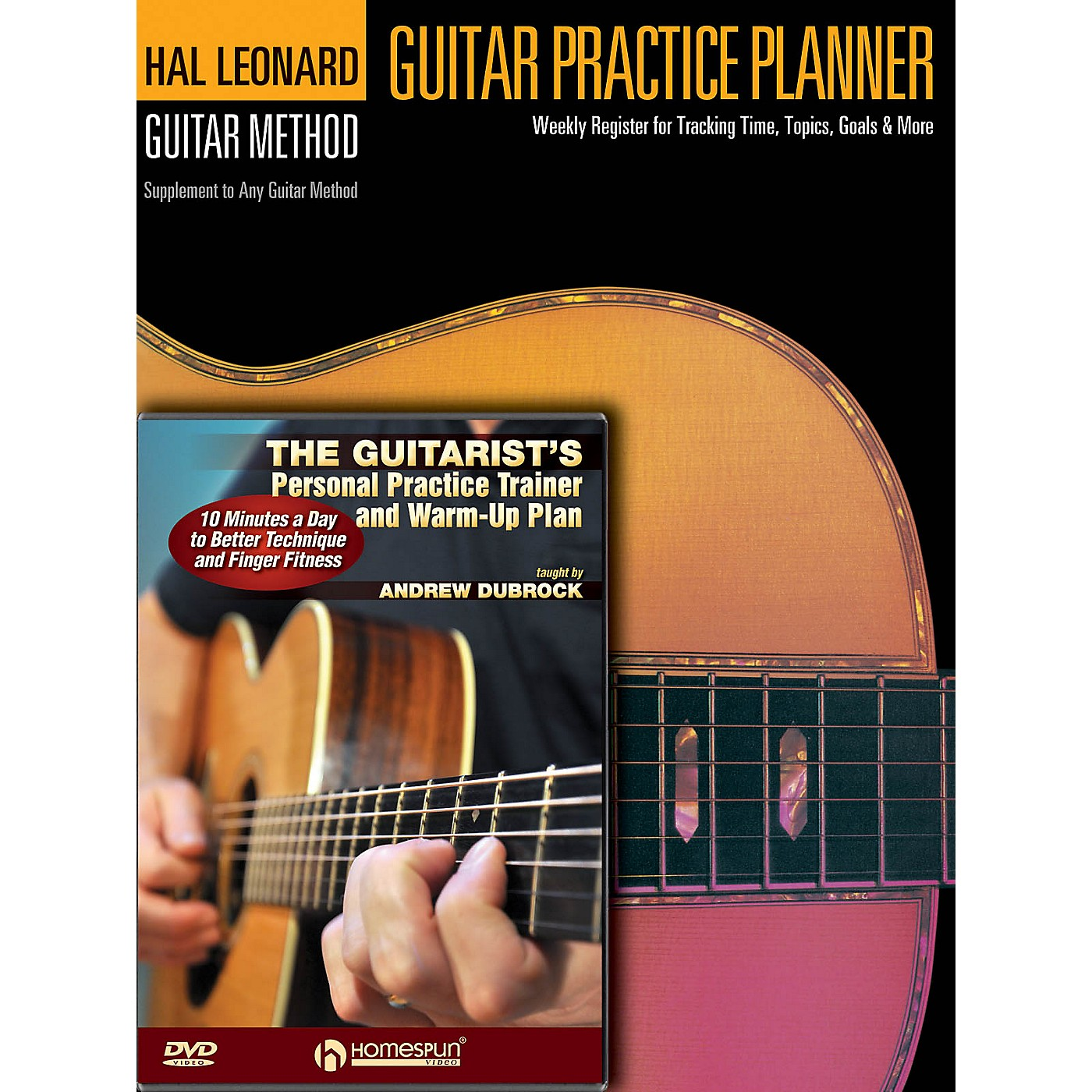 Homespun Guitar Practice Pack Homespun Tapes Series Softcover with DVD Written by Andrew DuBrock thumbnail