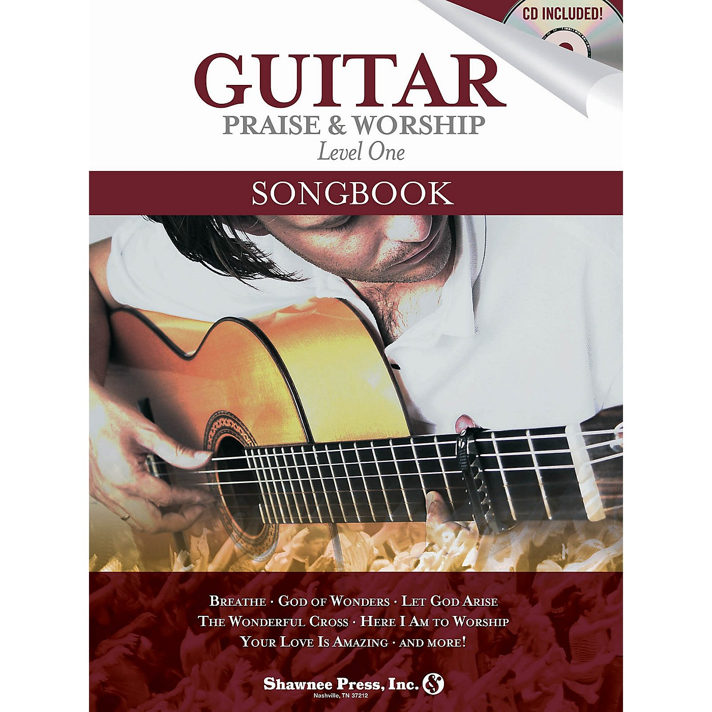 Shawnee Press Guitar Praise & Worship Songbook Shawnee Press Series Softcover with CD thumbnail