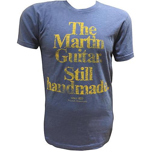 Martin Guitar Still Handmade - Royal T-Shirt with Gold Logo thumbnail
