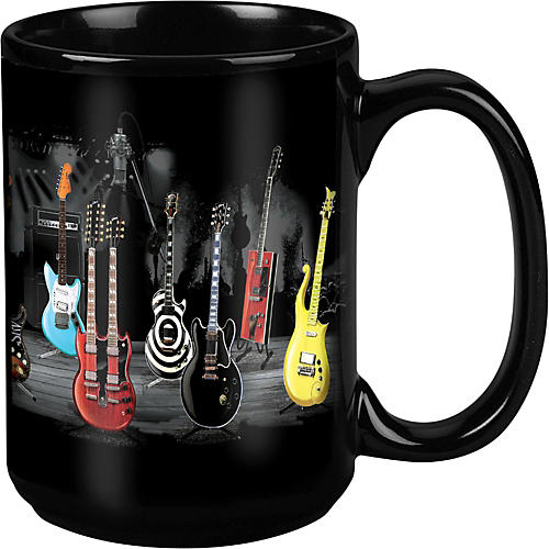 Taboo Guitar Stripe Black Mug 15 oz thumbnail