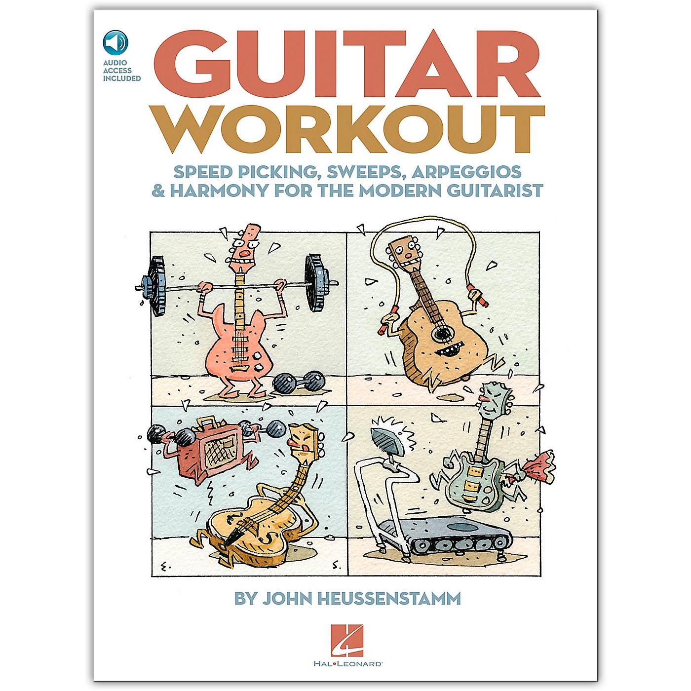 Hal Leonard Guitar Workout - Speed Picking Sweeps Arpeggios & Harmony for The Modern Guitarist (Book/Online Audio) thumbnail