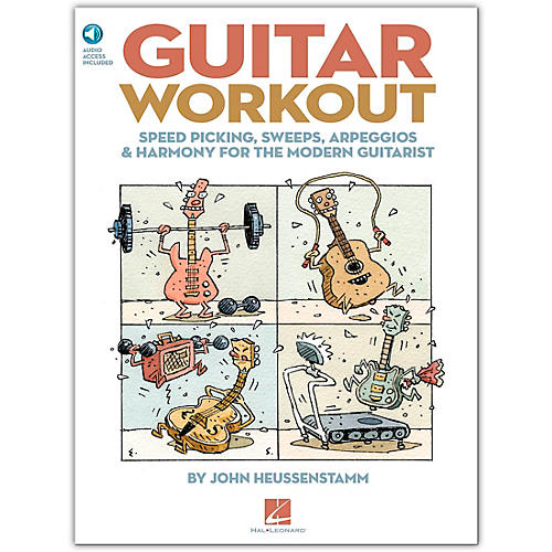 Hal Leonard Guitar Workout - Speed Picking Sweeps Arpeggios & Harmony for The Modern Guitarist (Book/Online Audio)-thumbnail