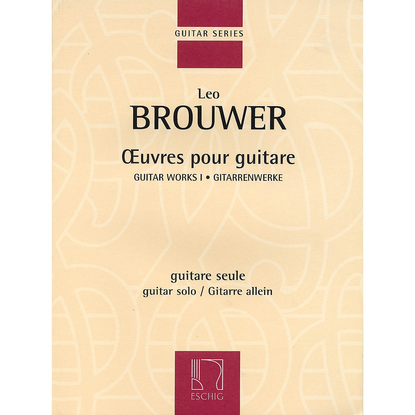 Max Eschig Guitar Works I (Guitar Solo) Editions Durand Series Softcover thumbnail