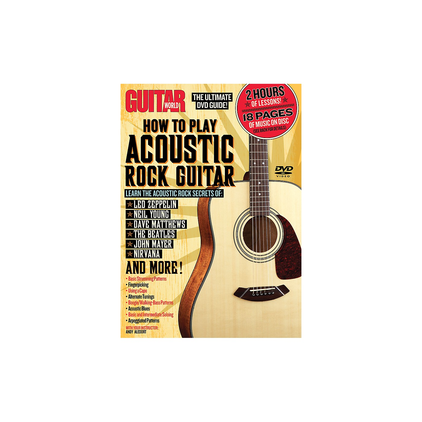 Alfred Guitar World How To Play Acoustic Rock Guitar (DVD) thumbnail