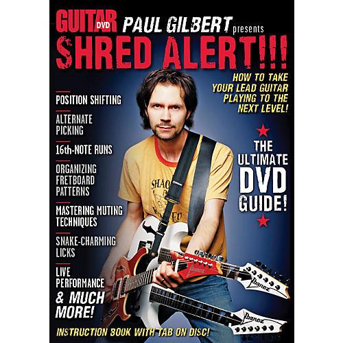 Alfred Guitar World Paul Gilbert presents Shred Alert! DVD thumbnail
