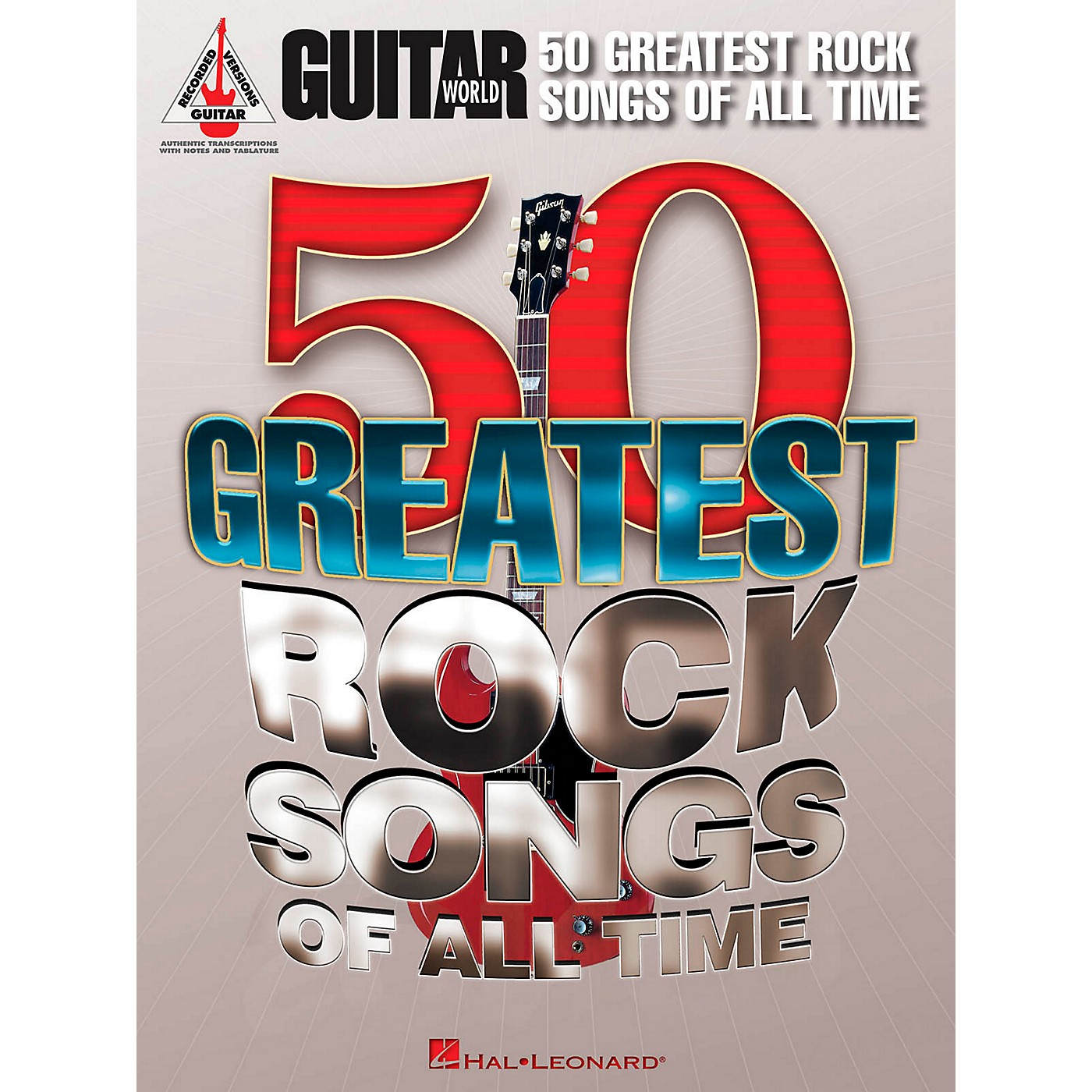 Hal Leonard Guitar World's 50 Greatest Rock Songs Of All Time Guitar Tab Songbook thumbnail