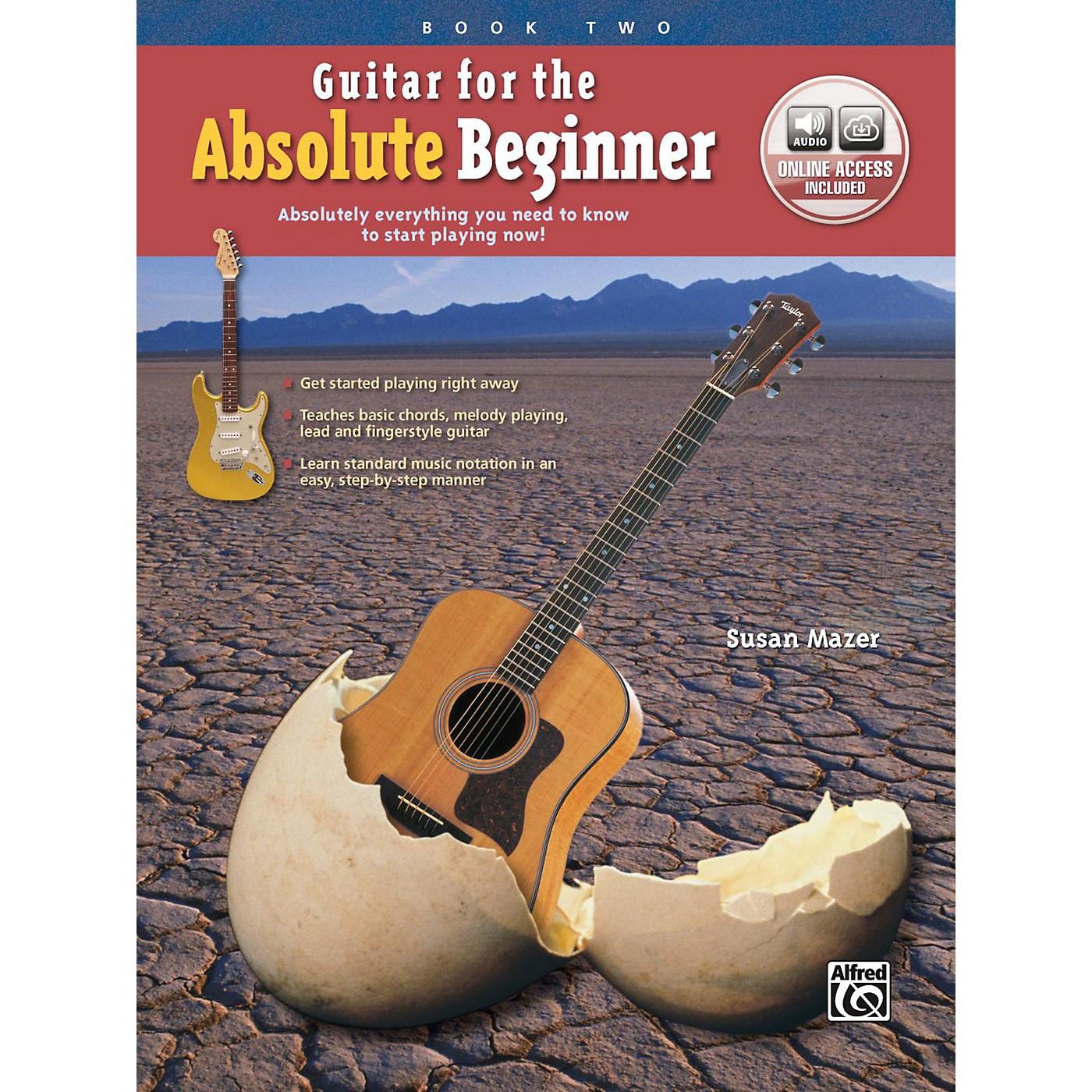 Alfred Guitar for the Absolute Beginner, Book 2 Book & Online Audio Beginner thumbnail