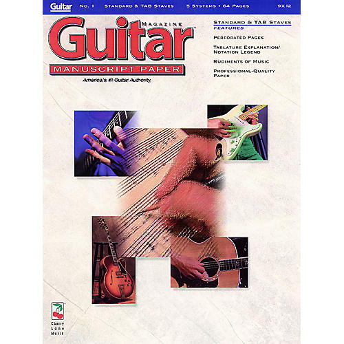 Cherry Lane Guitar(TM) Magazine Manuscript Paper - #1 Standard & Tab Staves - 9 inch. x 12 inch. Guitar Book Series thumbnail