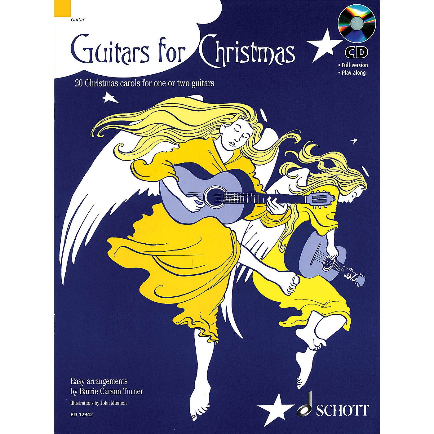 Schott Guitars for Christmas Misc Series Softcover with CD Composed by Various thumbnail
