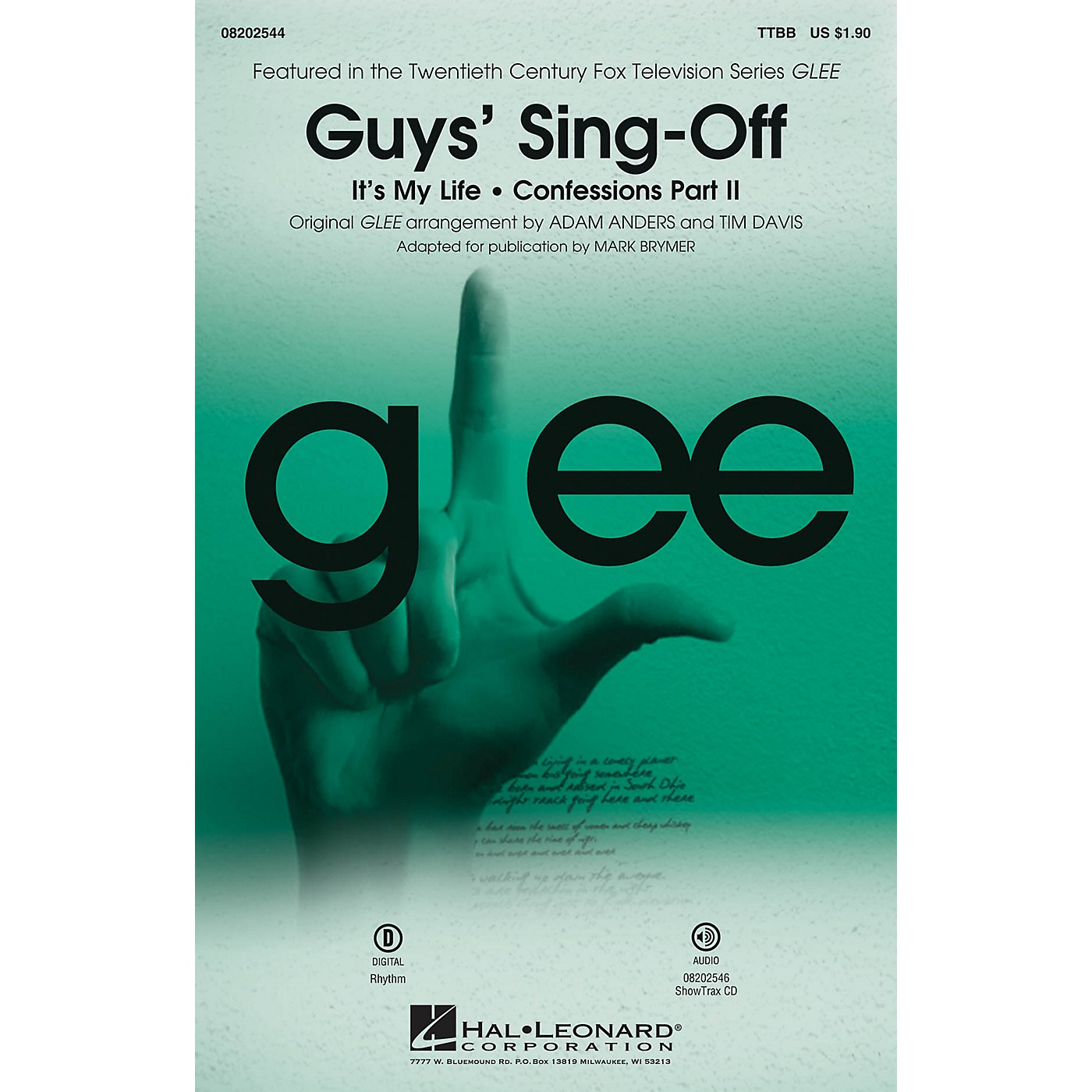 Hal Leonard Guys' Sing-Off (from Glee) ShowTrax CD by Glee Cast Arranged by Mark Brymer thumbnail