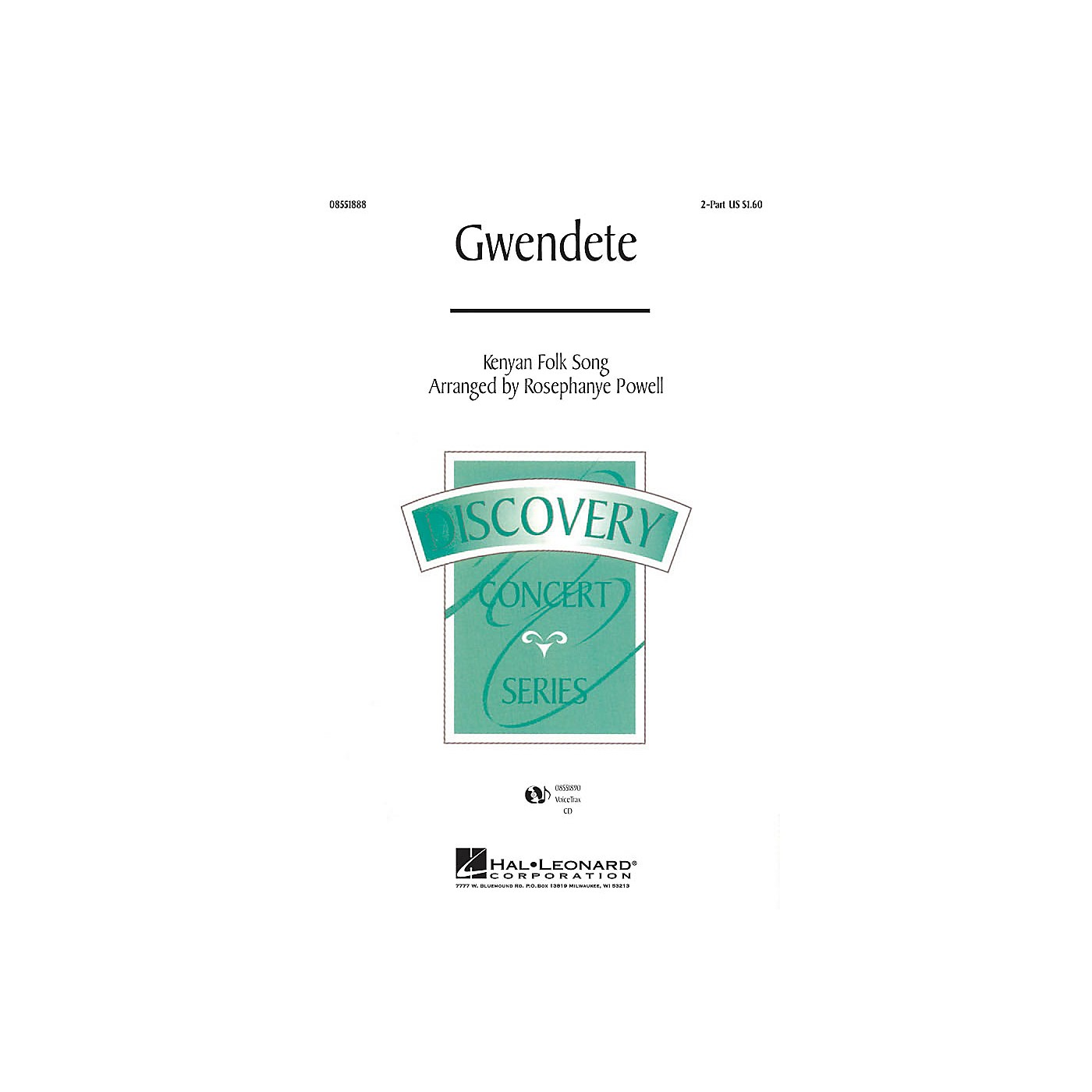 Hal Leonard Gwendete 2-Part arranged by Rosephanye Powell thumbnail