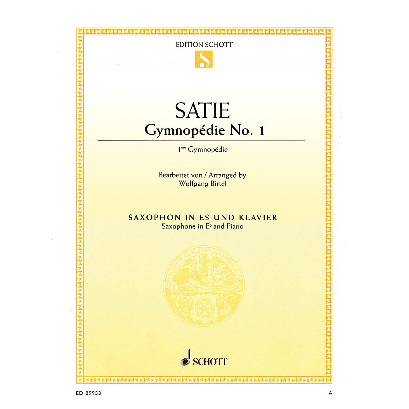 Schott Gymnopédie No. 1 (Arranged for Alto Saxophone and Piano) Woodwind Series Book thumbnail