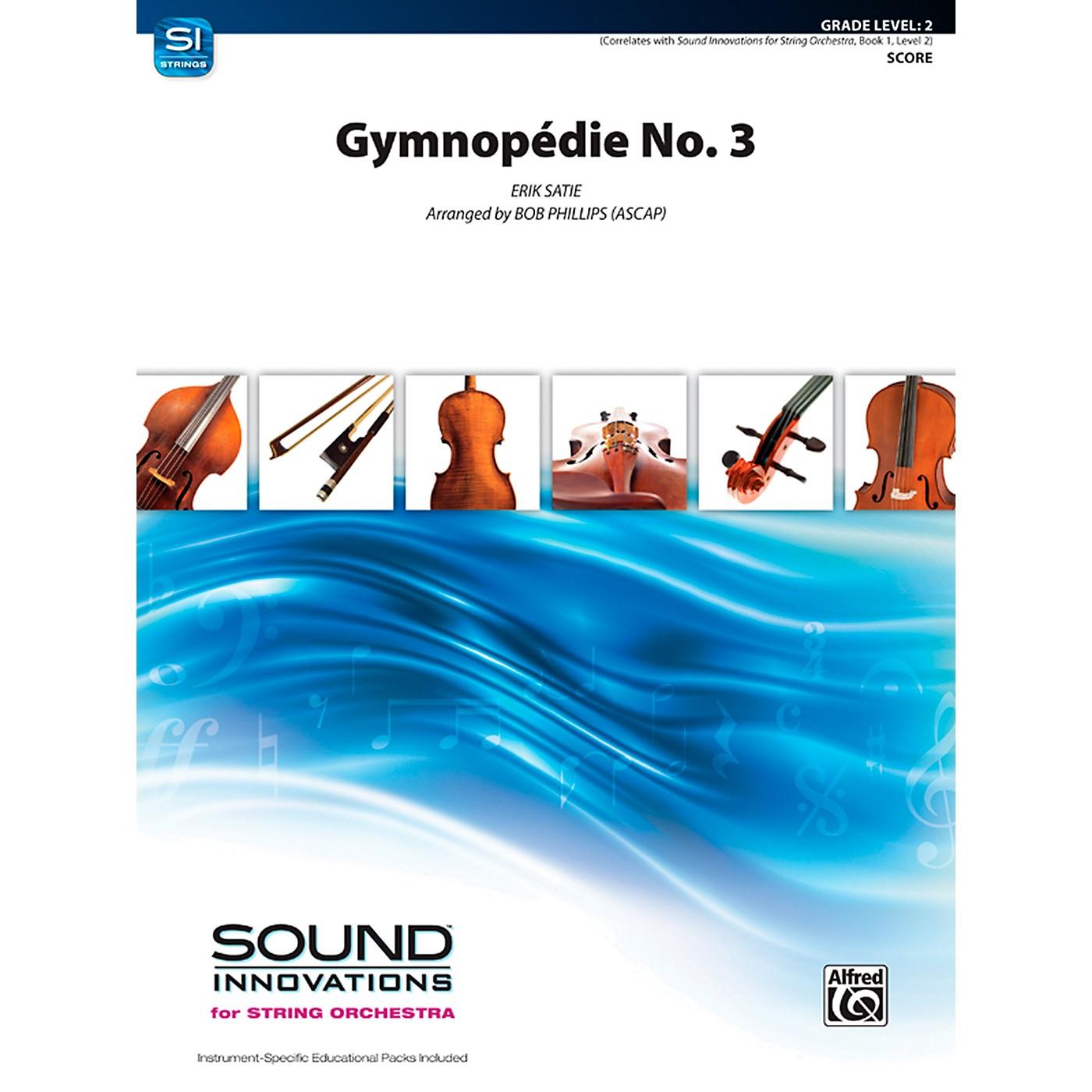 Alfred Gymnopdie No. 3 String Orchestra Grade 2 Set thumbnail