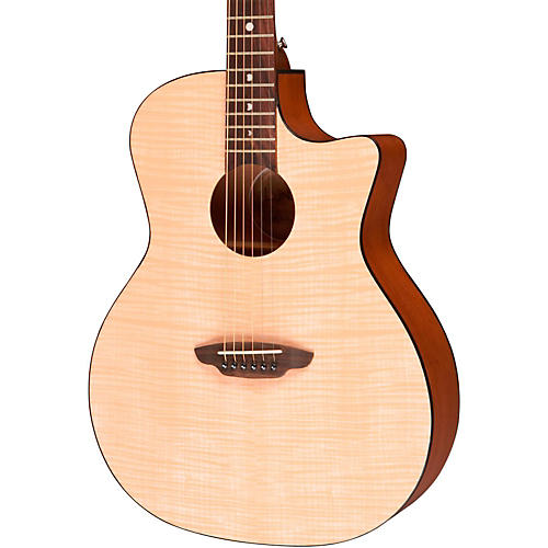 Luna Guitars Gypsy Flame Folk Acoustic Guitar-thumbnail