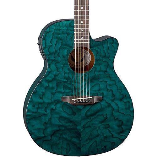 Luna Guitars Gypsy Grand Concert Ash Acoustic-Electric Guitar-thumbnail