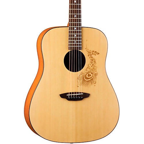 Luna Guitars Gypsy Henna Dreadnought Acoustic Guitar-thumbnail