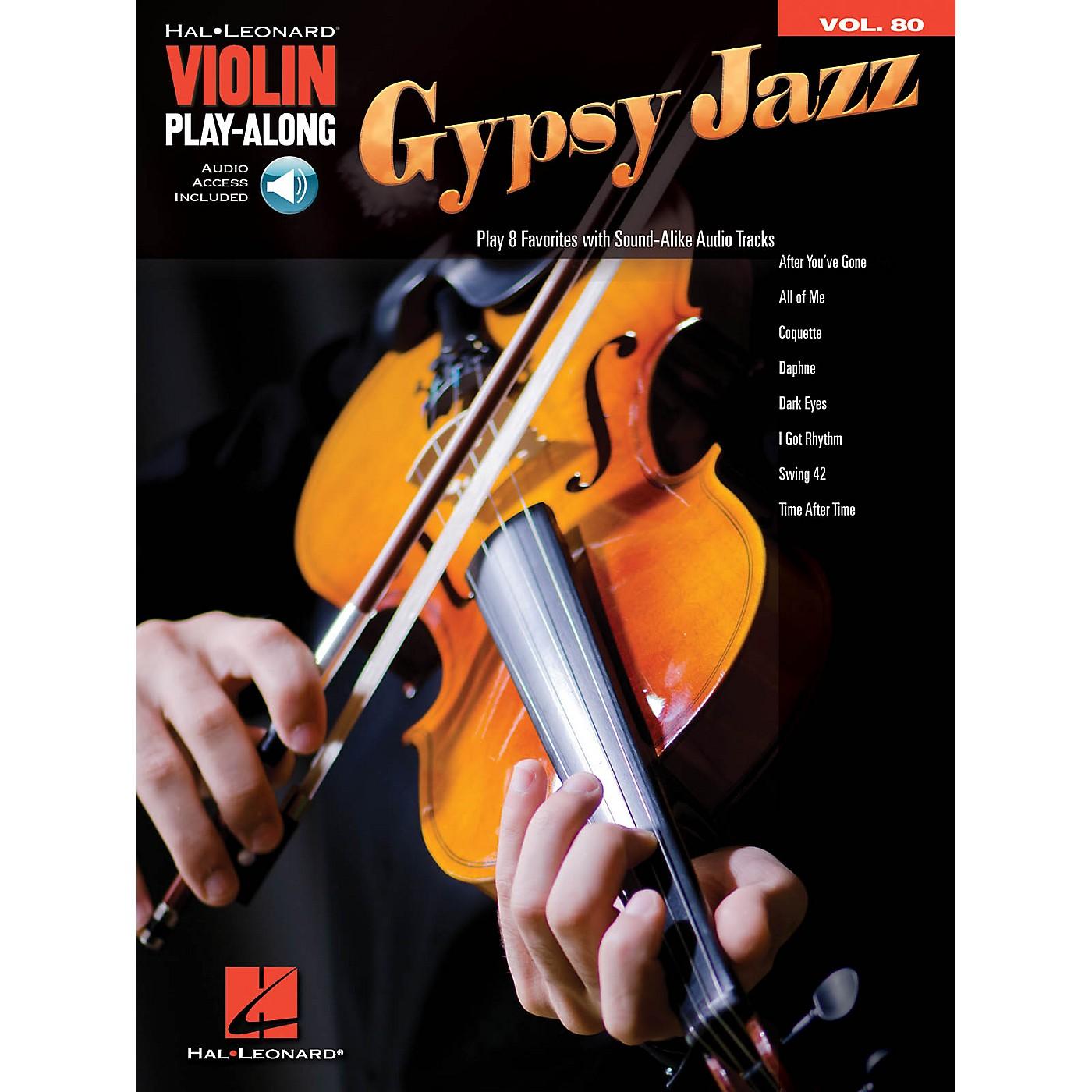 Hal Leonard Gypsy Jazz Violin Play-Along Volume 80 Book/Audio Online thumbnail
