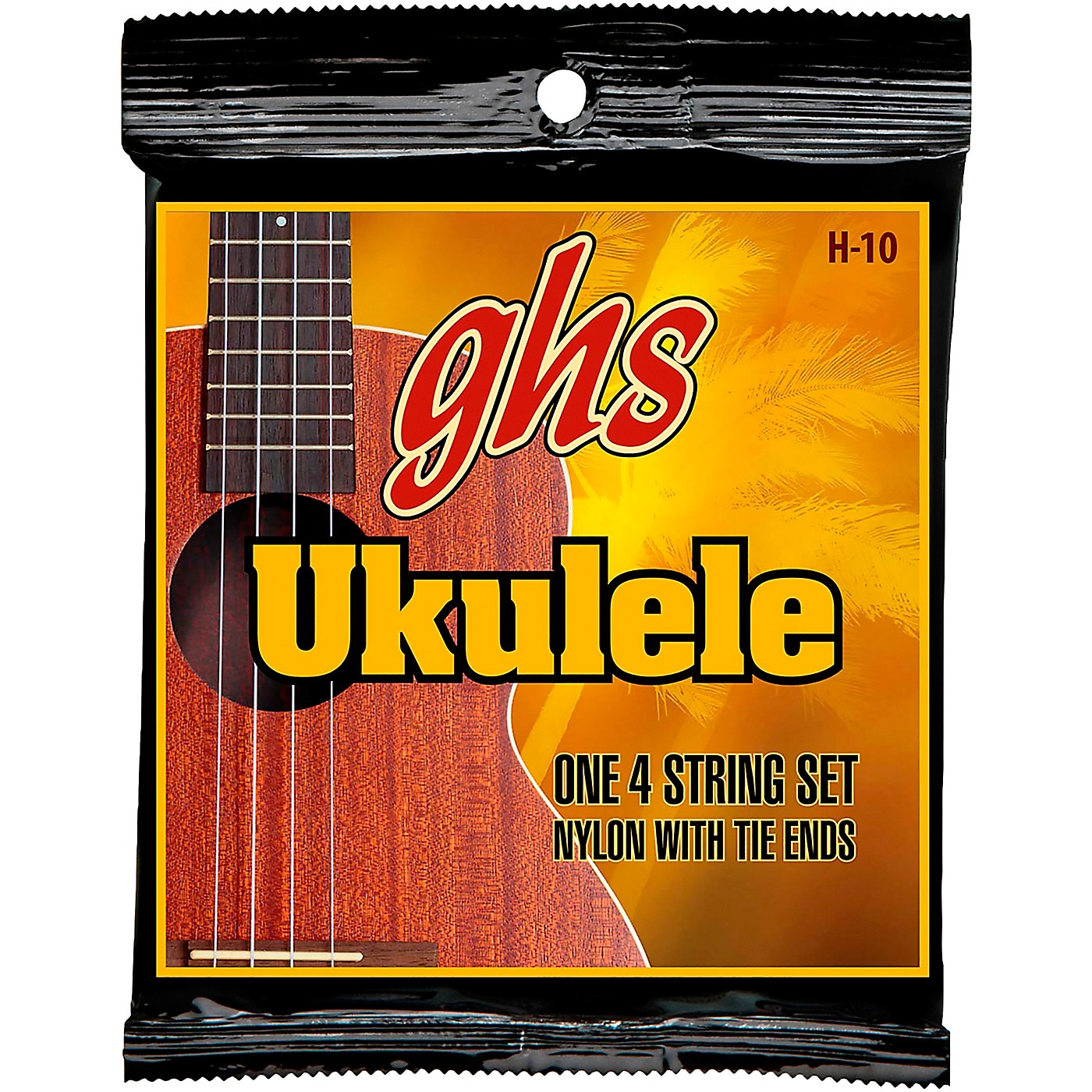 GHS H-10  Hawaiian Ukulele Black Nylon Strings thumbnail