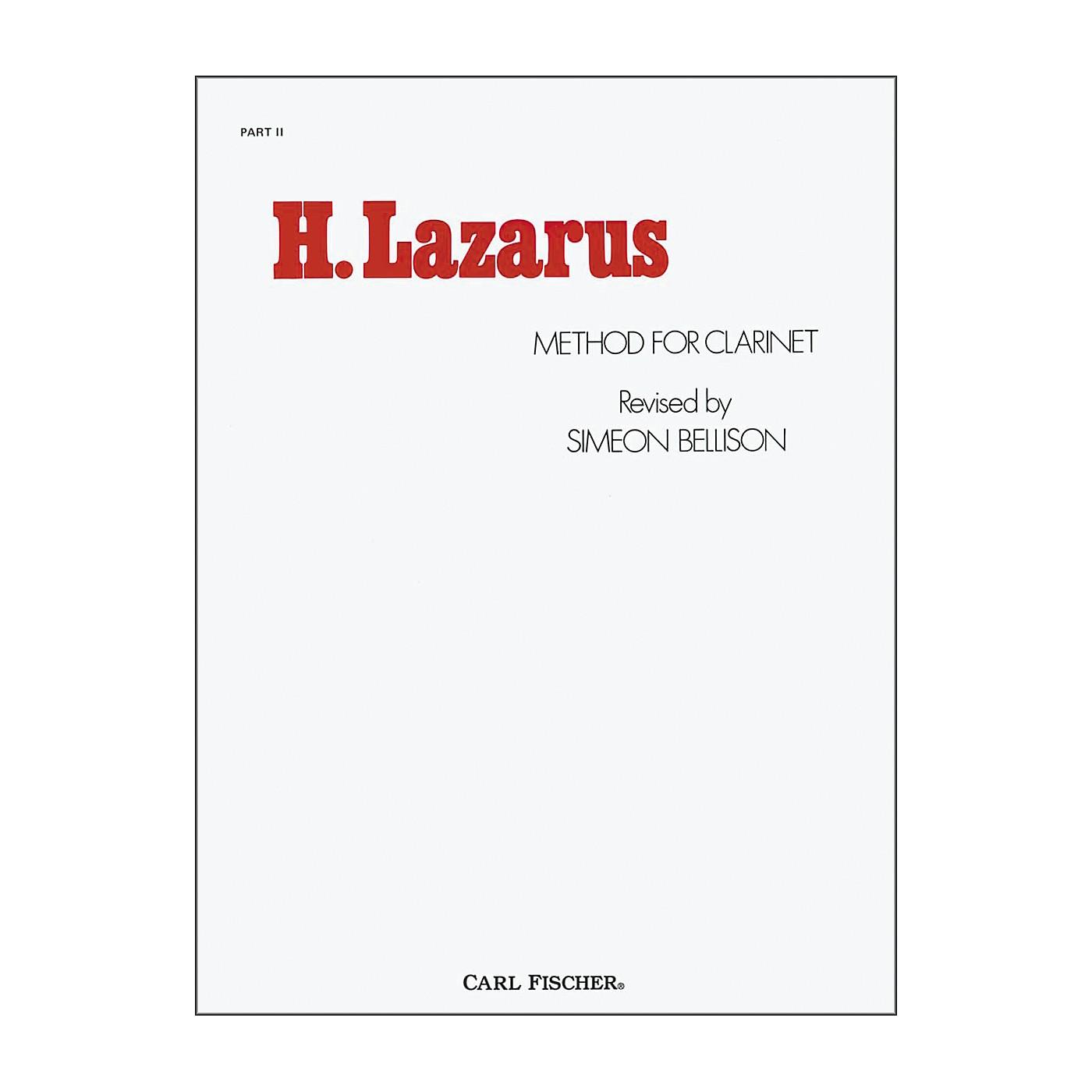 Carl Fischer H. Lazarus Method for Clarinet: Part II thumbnail