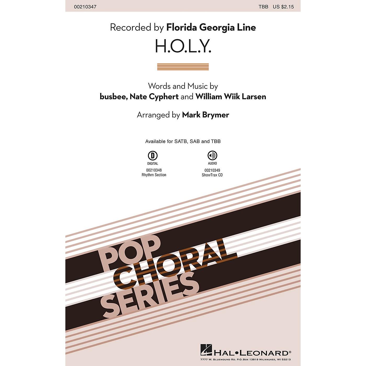 Hal Leonard H.O.L.Y. TBB by Florida Georgia Line arranged by Mark Brymer thumbnail