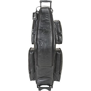 Gard Low Bb Baritone Saxophone Wheelie Bag 107-WBFLK Black Ultra Leather