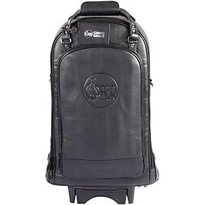 Gard Triple Trumpet Wheelie Bag 11-WBFLK Black Ultra Leather