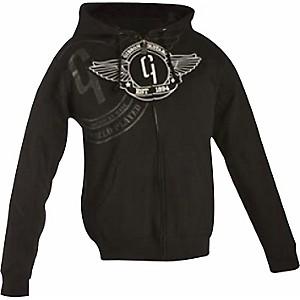 Gibson Logo Zip-up Hoodie Black XX Large