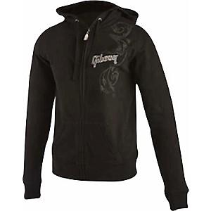 Gibson Logo Women's Zip-up Hoodie Black X Large