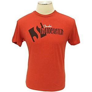 Fender Strat Headstock T-Shirt Red Large