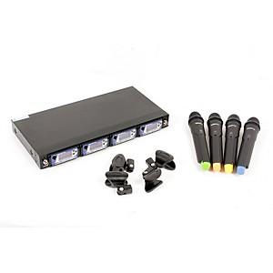 VocoPro UHF-5900 4 Microphone Wireless System with Frequency Scan Band 2 888365476339