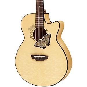 Luna Guitars Fauna Butterfly Acoustic-Electric Guitar Trans Natural
