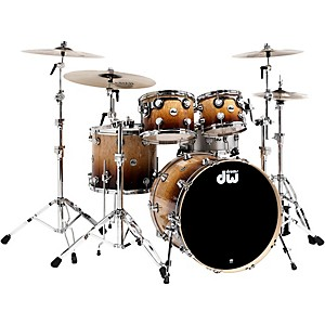 DW Collector's Series 4-Piece Shell Pack Burnt Toast Fade Chrome Hardware