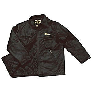 Zildjian Embroidered Logo Leather Jacket Black XX Large