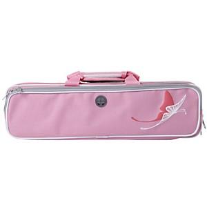 Kaces Grafix Pink Butterfly Series Polyfoam Flute Case