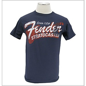 Fender Since 1954 Strat T-Shirt Blue Extra Extra Large