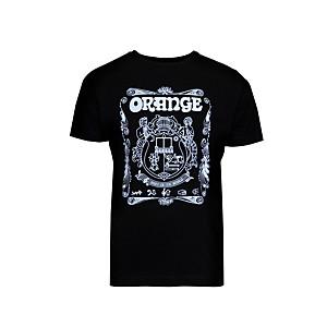 Orange Amplifiers Crest T-Shirt Black XX Large